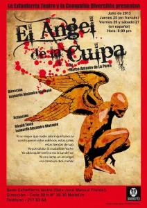 """Affiche """"L'ange de la Faute"""" pour la Colombie"""